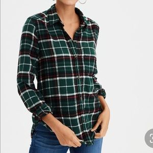 Ahh-Mazingly Soft Boyfriend Flannel Green
